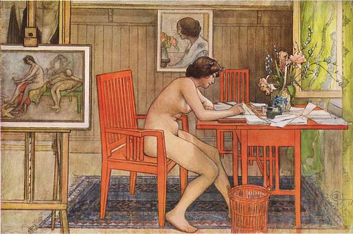 512px-Carl_Larsson_Model_writing_postcards_1906