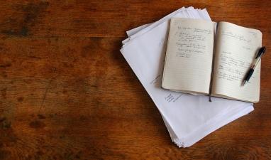 words in notebook
